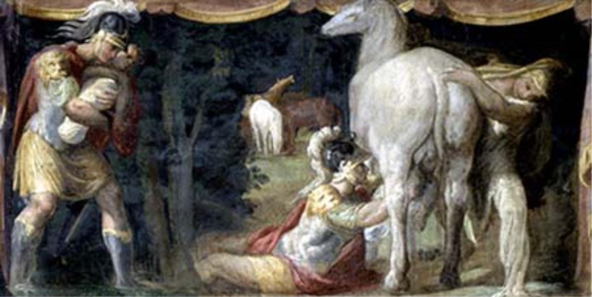 Metabo nutre la figlia Camilla con il latte di giumenta