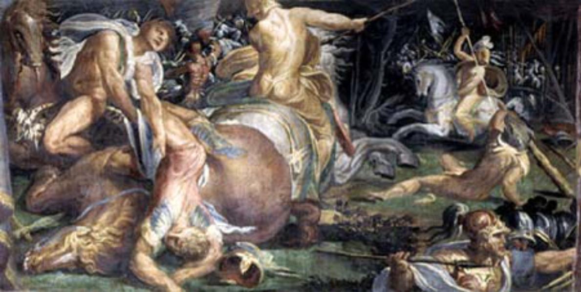 Camilla uccide Liri, Pegaso e Ornito