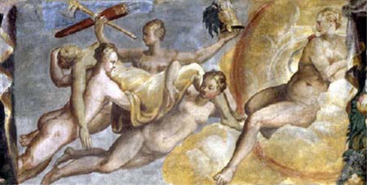 Il corpo della vergine Camilla, sacra a Diana, è trasportata con le armi in cielo